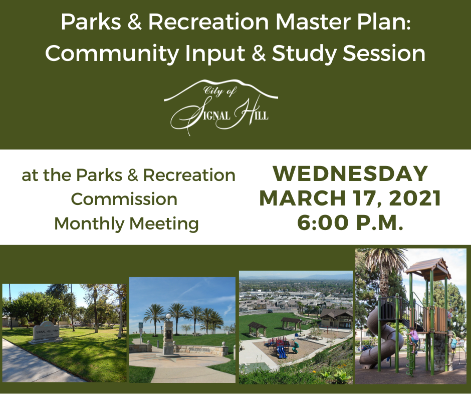 Parks and Recreation Community Virtual Meeting March 17