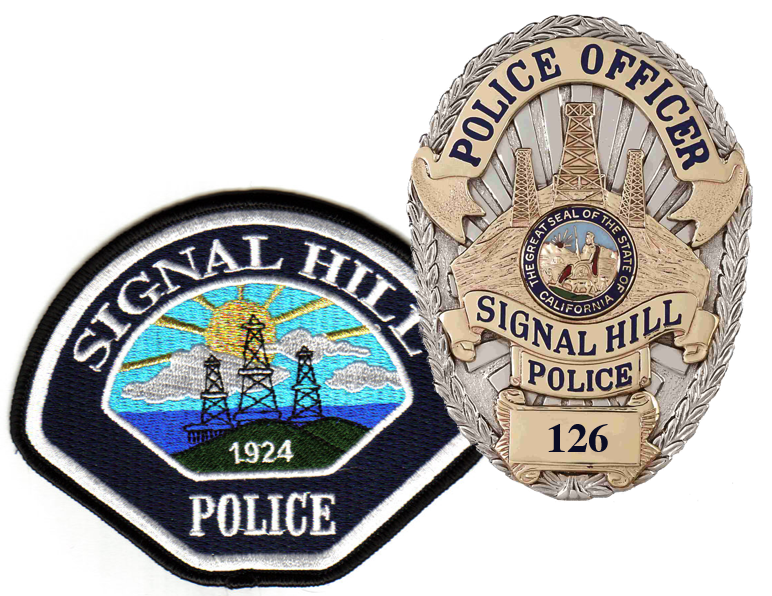 Signal Hill police badge and patch
