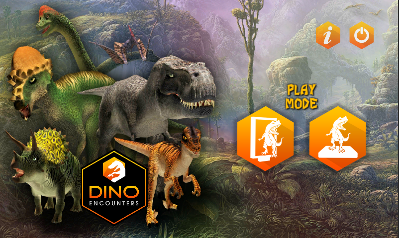 A screenshot of the Dinosaur Zoo encounters game