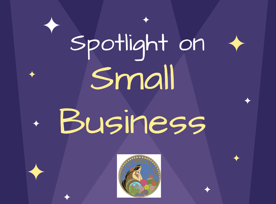 Purple Starry Spotlight on Small Business
