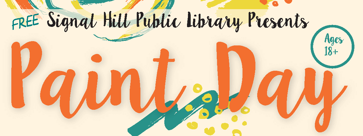 2018 Library Paint Day in December Logo