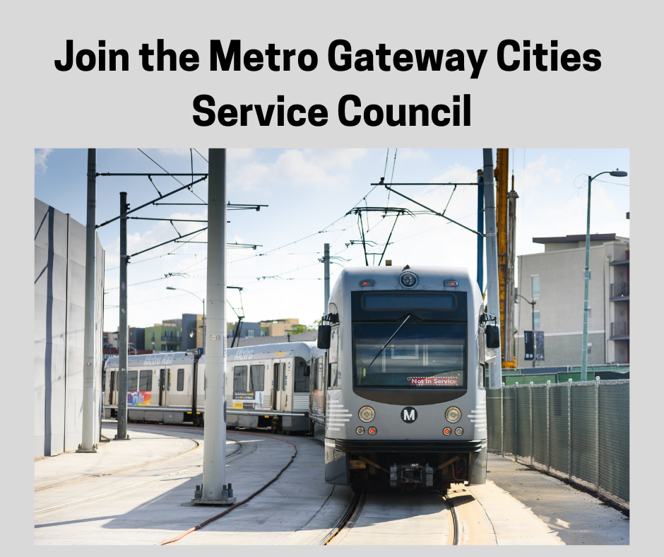 Join the Metro Gateway Cities Service Council