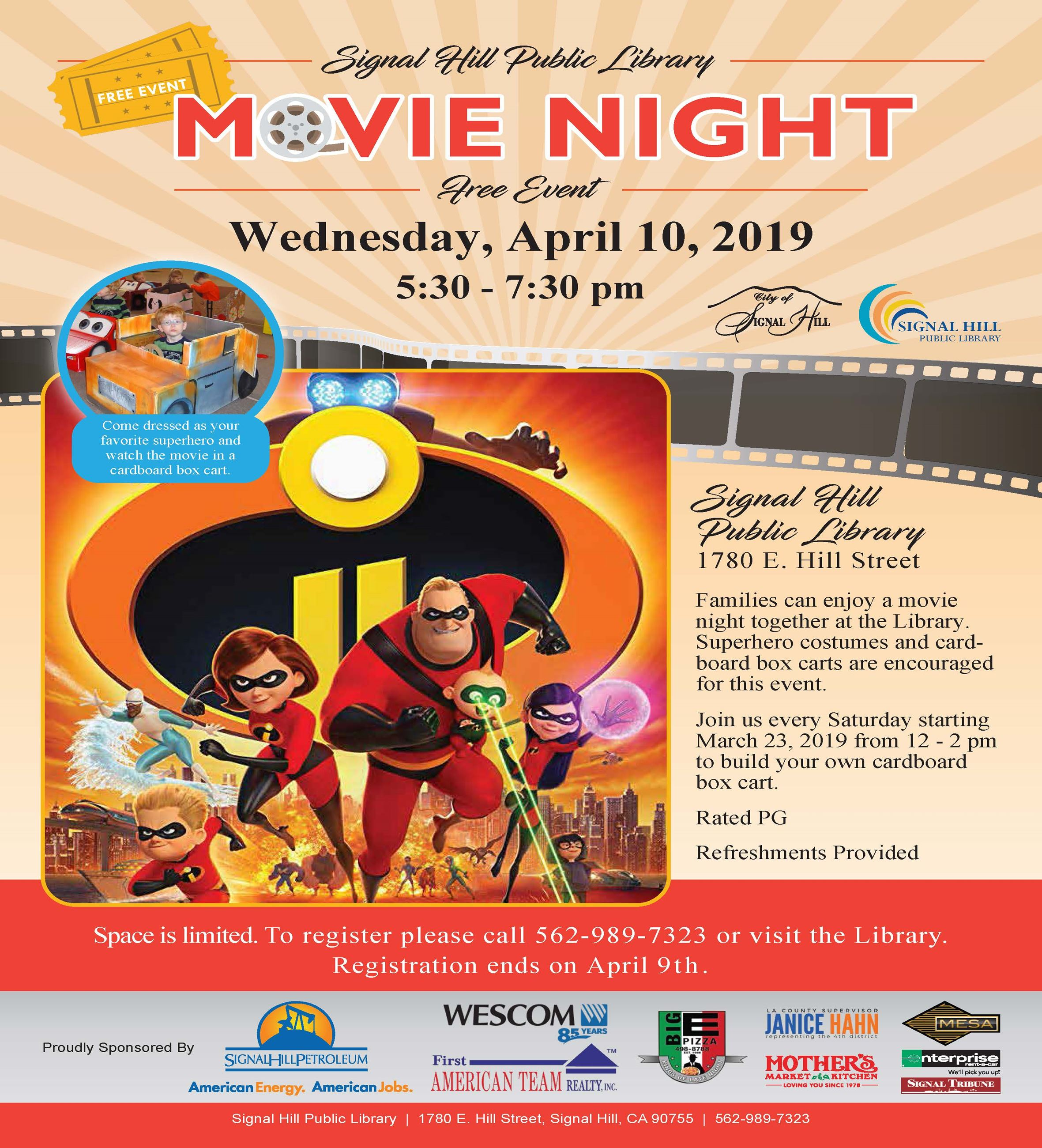 2019 Library Movie Night - Incredibles 2