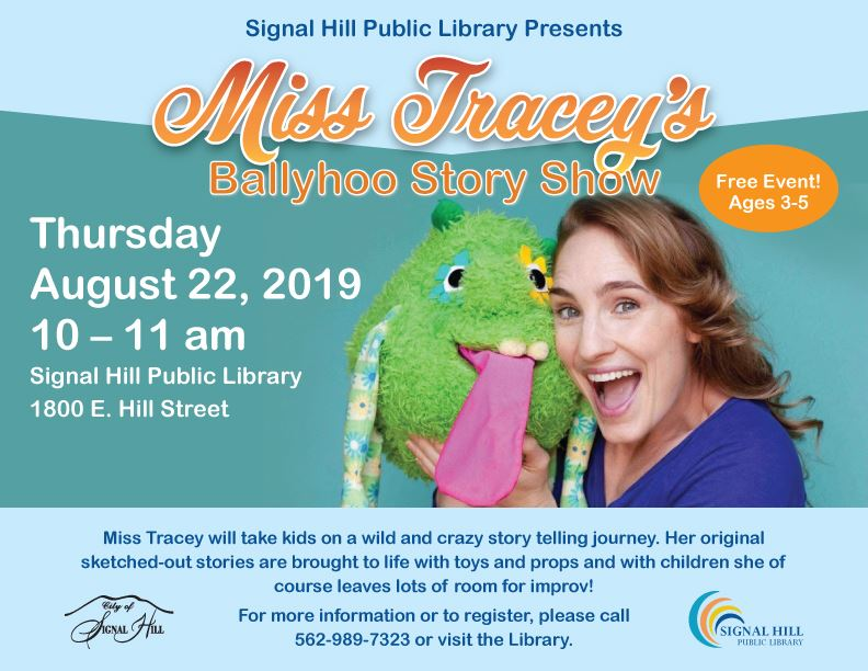 Miss Traceys Ballyhoo Story Show Thursday August 22 Miss Tracey and her puppet
