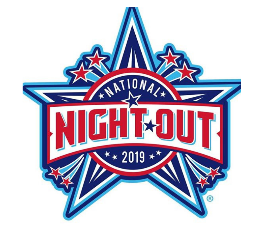 Red White and Blue Star Logo National Night Out 2019