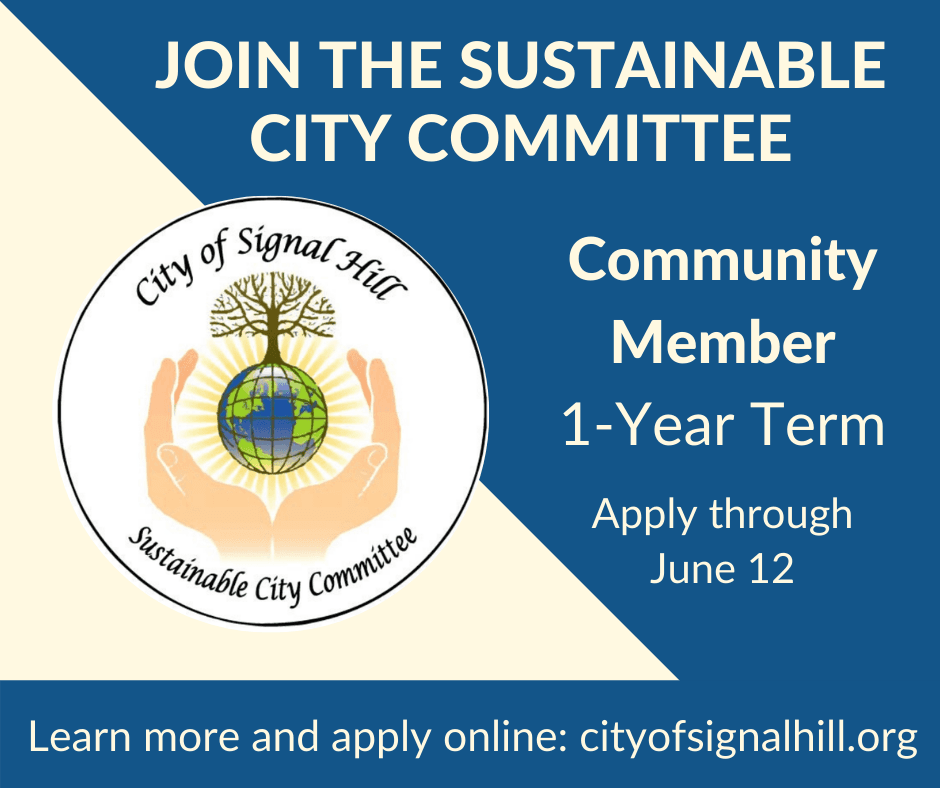 Join the Sustainable City Committee Deadline to Apply June 12