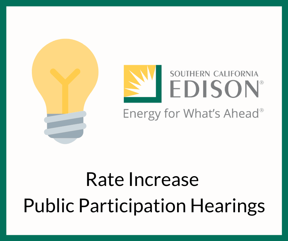 Rate Increase Public Participation Hearings